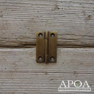 蝶番 丁番 真鍮製 小さい金具 V.010 アンティーク風 レトロ DIY 扉|apoa