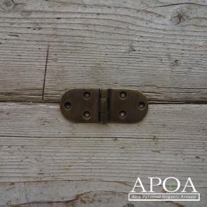 蝶番 丁番 真鍮製 金具 V.066 アンティーク風 レトロ DIY 扉|apoa