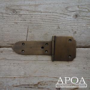 蝶番 丁番 真鍮製 金具 V.070  アンティーク風 レトロ DIY 扉 開き戸|apoa