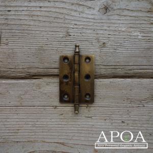 蝶番 丁番 真鍮製 金具 V.094  アンティーク風 レトロ DIY 扉|apoa