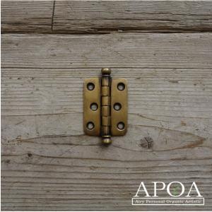 蝶番 丁番 真鍮製 金具 V.096 アンティーク風 レトロ DIY 扉|apoa