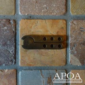 蝶番 丁番 真鍮製 金具 V.102 アンティーク風 レトロ DIY 扉|apoa