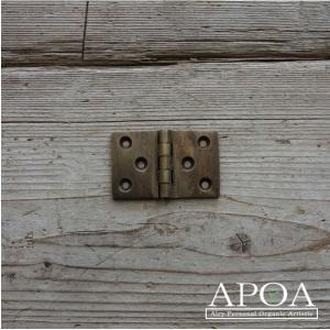 蝶番 丁番 真鍮製 金具 V.122 アンティーク風 レトロ DIY 扉|apoa