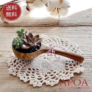 母の日 プレゼント 多肉植物 ウッドスプーン 多肉の乗せ 寄せ植え レース付き 木製|apoa