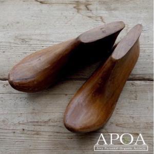 シューモールド 靴型 木製 ヴィンテージ アンティーク風 インテリア|apoa