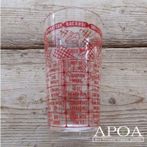 コップ、グラス レシピグラス カクテルメジャーグラス 赤|apoa