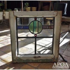 オブジェ、置き物 アンティーク  ステンドグラス040|apoa