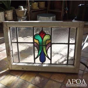 オブジェ、置き物 アンティーク  ステンドグラス041|apoa