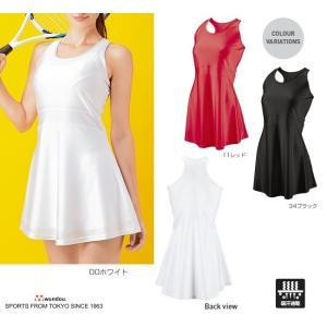 テニスウェアーとして海外では女性に一般的なワンピーススタイル。シンプルで魅力的なシルエットです。【イ...