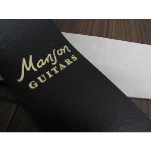Manson Guitar Standard Leather Strap Goldロゴ  (NO.4250/Gold)【マンソンギターストラップ】 ステッチ無|apollon