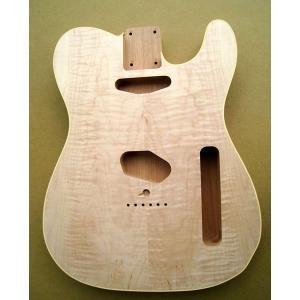 Hosco エレキギターボディー テレキャスタータイプ  BD-CMP マホガニー2P カーリーメイプル化粧板貼り 未塗装|apollon