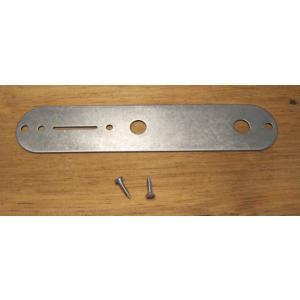 【正規輸入品】Glendale 究極のテレキャスターパーツ!Steel Control Plate chrome plated Raw Deal コントロールプレート|apollon