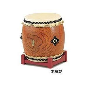 SUZUKI 長胴太鼓 本欅製 1尺9寸(57cm) (鈴木楽器 和太鼓 ケヤキ製 スズキ)