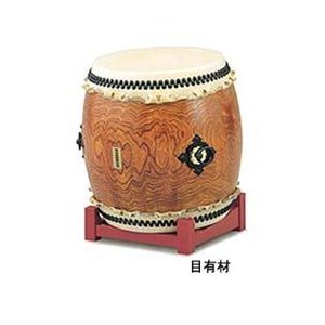 SUZUKI 長胴太鼓 目有材製 2尺(60cm) (鈴木楽器 和太鼓 目有材 スズキ)