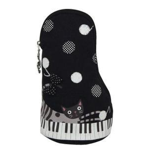 ◇ピアノの形とピアノキャットのプリント柄がマッチして楽しい。 ◇立てたまま使えるのが便利なスタンド型...