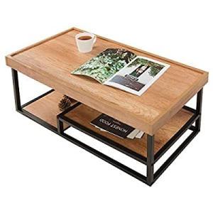 DEVAISE コーヒーテーブル センターテーブル ローテーブル リビングテーブル 幅930奥行43...