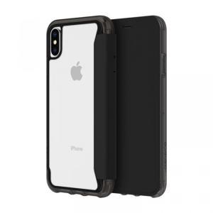 Griffin Survivor クリアウォレット 背面クリア手帳型ケース ブラッククリア iPhone XS/X appbankstore