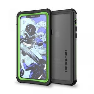 iPhoneX ケース 耐衝撃 GHOSTEK Nautical for iPhone X IP68防水防塵タフネスケース ゴーステック ノーティカル グリーン|appbankstore