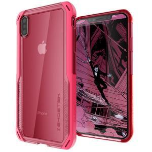 クローク4 ハイブリッドクリア背面ケース ピンク iPhone XS Max|appbankstore