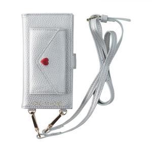 HONEY MI HONEY LETTER BOOK ポケット付手帳型ケース シルバー iPhone XS/X appbankstore