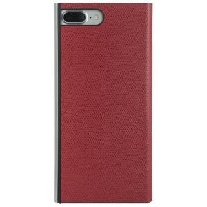 iPhone8 Plus iPhone7 Plus ケース アイフォン8プラス パワーサポート 本牛革型押し手帳型ケース レッド|appbankstore
