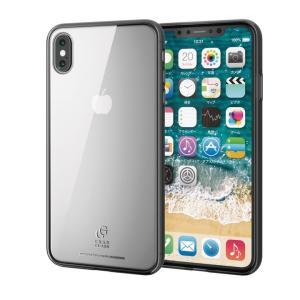 ハイブリッド強化ガラスケース スタンダード クリアブラック iPhone XS Max|appbankstore