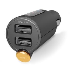 FMトランスミッター/Bluetooth/USB2ポート付/2.4A/おまかせ充電/重低音モード付/4チャンネル/ブラック|appbankstore