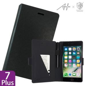 [A+×CRYSTAL ARMOR]Su-Penホルダー付き手帳型ケース Special Edition ブラック iPhone 7 Plus|appbankstore