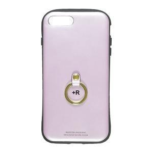フィンガーリング付衝撃吸収背面ケース +R ラヴェンダー iPhone 8 Plus/7 Plus appbankstore