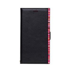 アクセントボーダー PU手帳型ケース ブラック/レッド iPhone XS Max(10月31日入荷予定)|appbankstore
