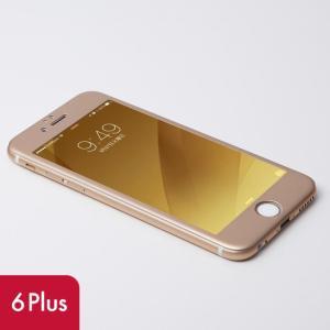 iPhone6s Plus iPhone6 Plus 液晶保護 強化ガラスフィルム Deff W-FACE 強化ガラス&アルミ液晶保護 ゴールド|appbankstore