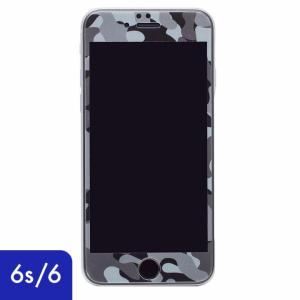 iPhone6s iPhone6 液晶保護 強化ガラスフィルム 0.33mm Deff 強化ガラス 全面保護 迷彩/夜中|appbankstore