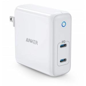 Anker PowerPort Atom PD 2 60W 2ポート USB-C 急速充電器 ホワイ...