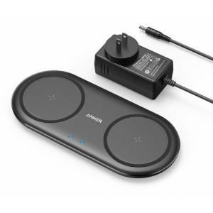 お使いのスマートフォン等を2台同時にワイヤレス充電できるパッド型ワイヤレス充電器