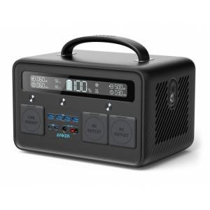 Anker PowerHouse II 800 ポータブル電源 防災 緊急 停電 無停電電源装置 UPS ポータブ ル電源 ブラック AppBank Store