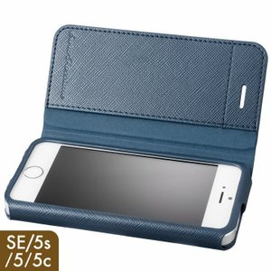 iPhoneSE ケース iPhone5s ケース GRAMAS COLORS PUレザー 手帳型ケース EURO Passione ネイビー appbankstore