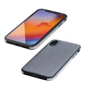 Deff Hybrid Case Etanze ナイロンシルバー iPhone XR