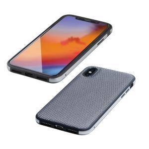 Deff Hybrid Case Etanze ナイロンシルバー iPhone XS Max
