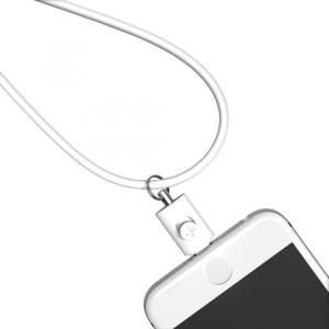 Lightningコネクタ用ネックストラップ ホワイト|appbankstore