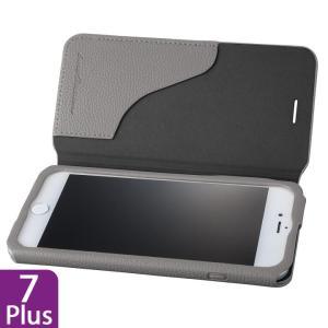 GRAMAS COLORS PUシュリンクレザー手帳型ケース EURO Passione 2 グレイ iPhone 8 Plus/7 Plus appbankstore