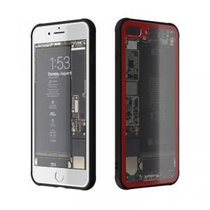 背面強化ガラスケース Eureka Translucent レッド iPhone 7 Plus appbankstore