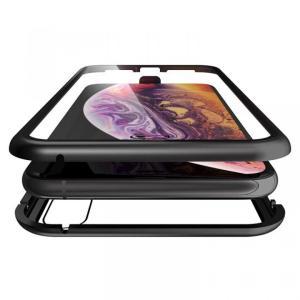 Monolith Alluminio(モノリス アルミニオ)/ブラック 両面強化ガラス+アルミバンパー for iPhone XS Max|appbankstore