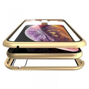 Monolith Alluminio(モノリス アルミニオ)/ゴールド 両面強化ガラス+アルミバンパー for iPhone XS Max|appbankstore