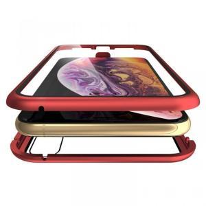 Monolith Alluminio Rosso(モノリス アルミニオ ロッソ)/レッド 両面強化ガラス+アルミバンパー for iPhone XS Max|appbankstore