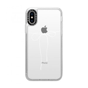 Casetify TAKE A BOW II - BLANC grip clear iPhone XS/X appbankstore
