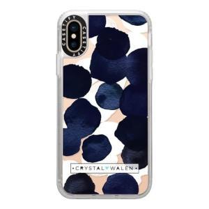 Casetify Indigo White Dots Clear Grip Case iPhone XS appbankstore