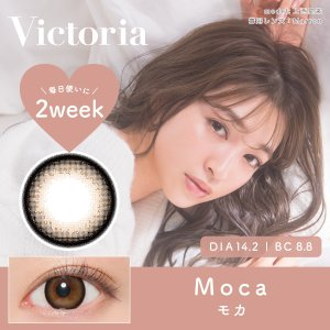 Victoria 2week by candymagic 1箱6枚入り 2週間使い捨て 2ウィーク ヴィクトリア キャンディー マジック 度あり 度なし カラコン コンタクト エルコード Lcode|appeal|03