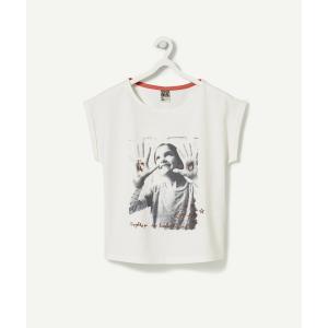 送料無料 tape a l'oeil ターパロイユ プリント半袖Tシャツ トップス 女の子 ◆ 2-...