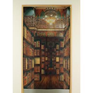タペストリー のれん MULTI TAPESTRY OLD LIBRARY 古い図書館 おしゃれ メール便可|applemint-zakka2