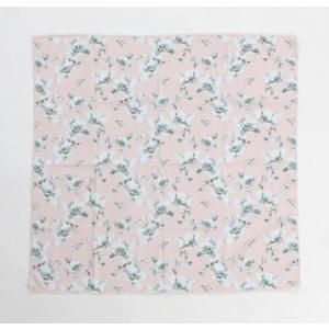 冷感 クールスカーフ ひんやり ウォーターフラワー ピンク  熱中症対策 送料無料|applemint-zakka2